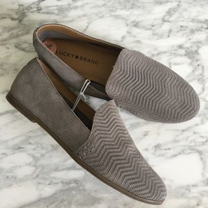 LUCKY BRAND Grey Cattina Slip On Loafers - NEW